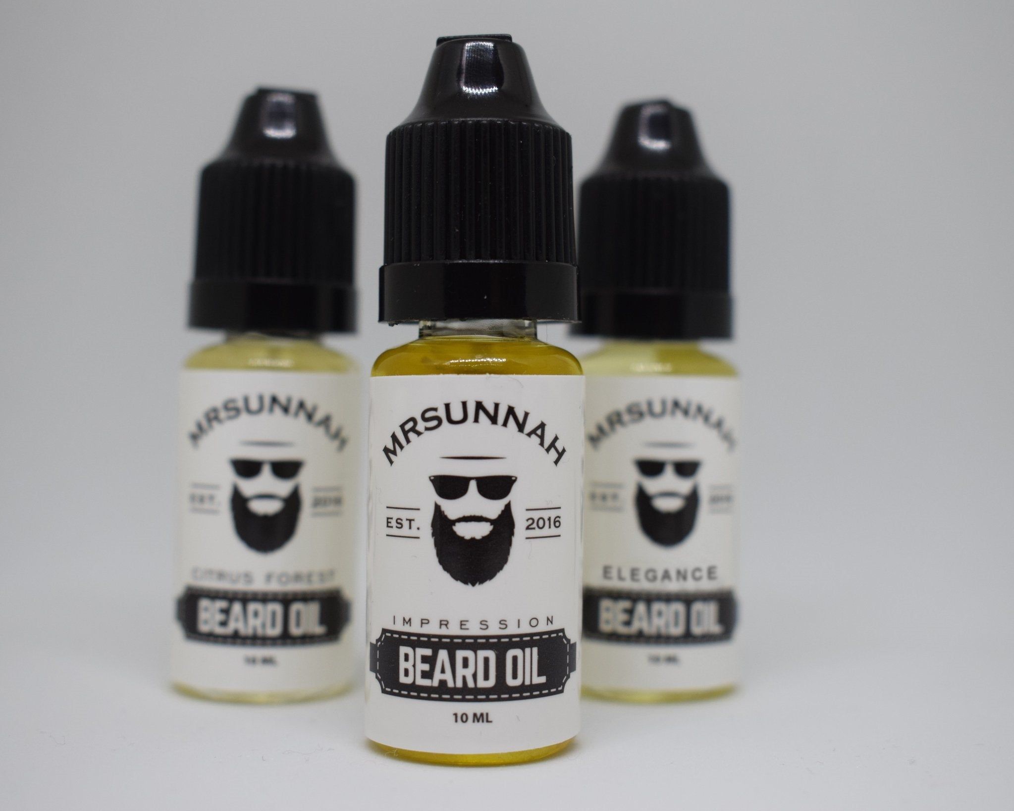3 Beard Oil Set (10ml) - Mrsunnah Grooming Co