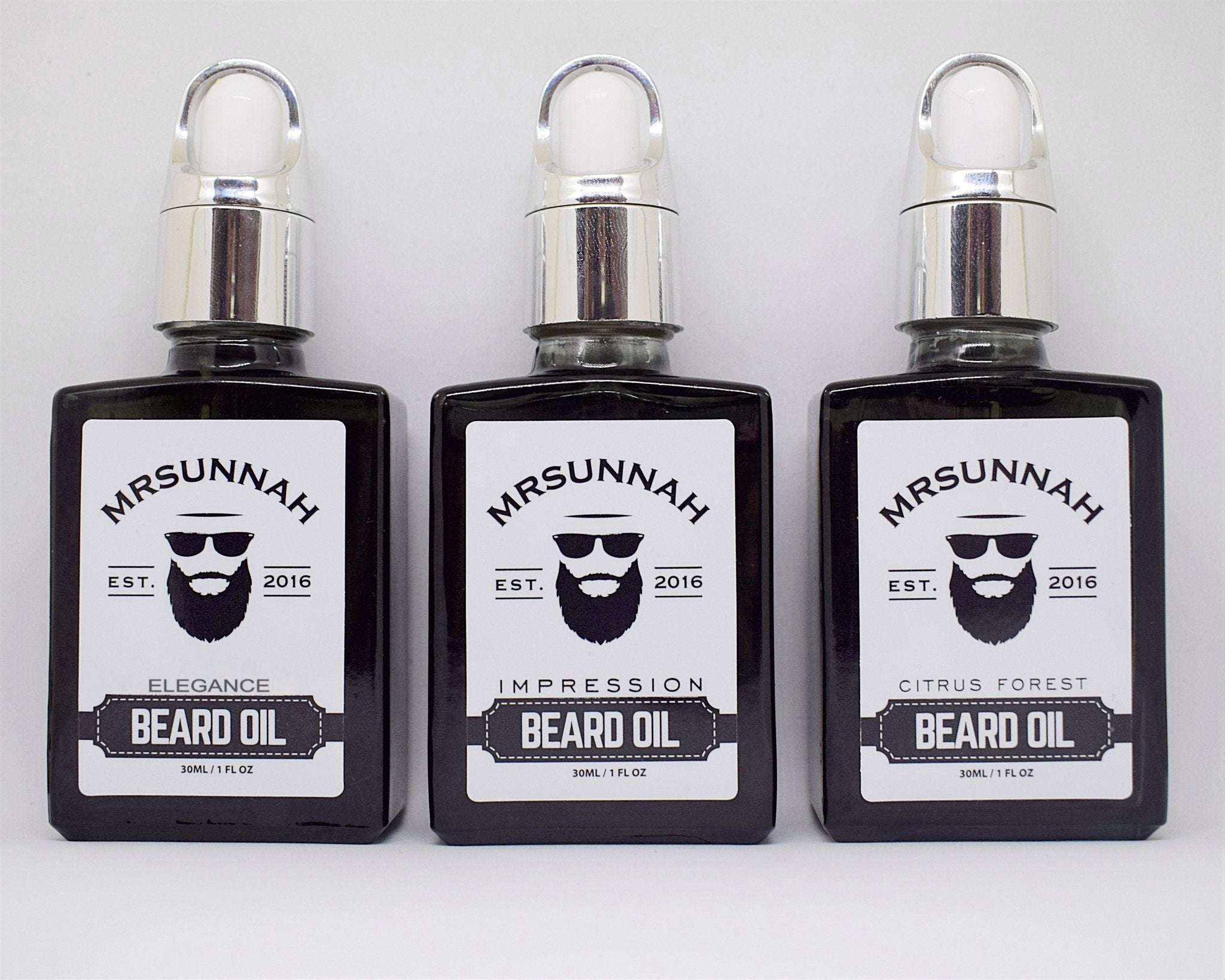 3 Beard Oil Set (30ml) - Mrsunnah Grooming Co