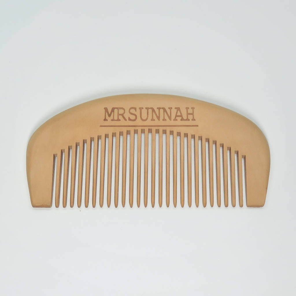 Gift Set Beard Comb & Beard Oil (10ml) - Mrsunnah Grooming Co