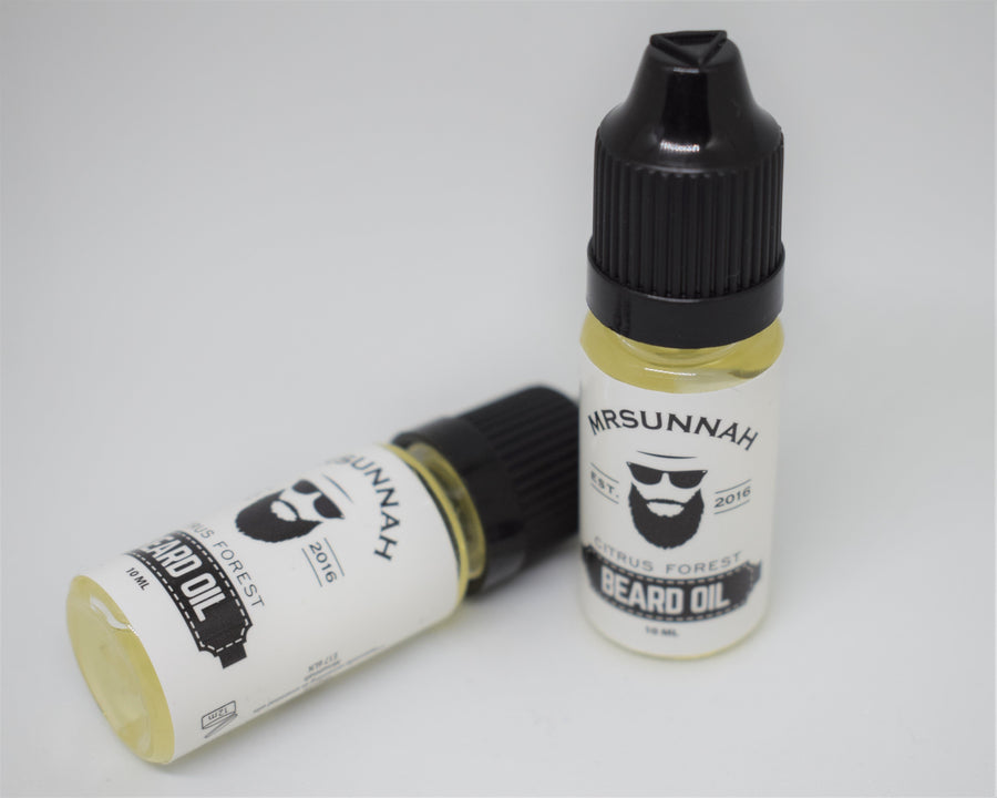 Citrus Forest Beard Oil (10ml) - Mrsunnah Grooming Co