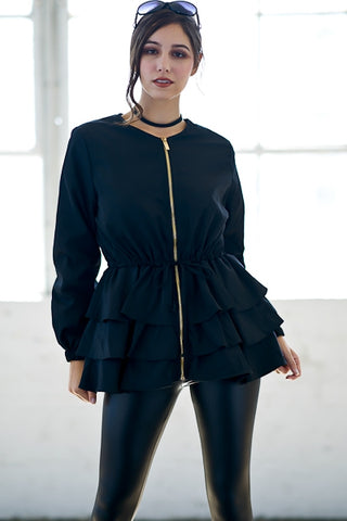 The Lovie Ruffle Top/ Jacket