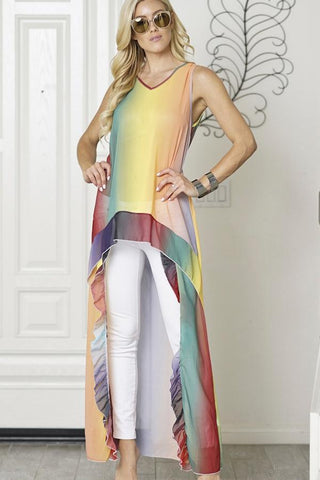 The Jane Rainbow Top