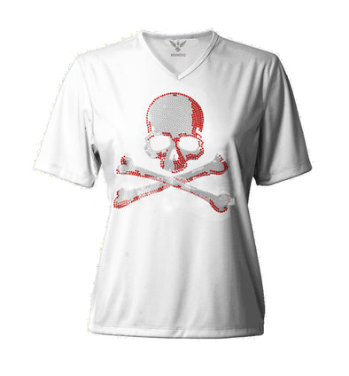 "T-SHIRT V-NECK LS ""RED CROSSIN"""