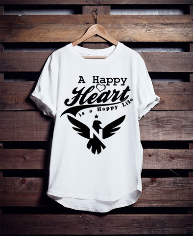 "T-SHIRT ROUND NECK SS ""HAPPY HEART"""