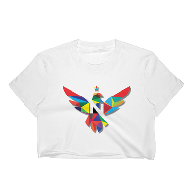 "T-SHIRT C-NECK SS CROP TOP ""COLORS"" WOMEN"