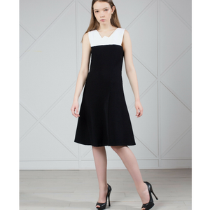 MUZA Dress in Black & White