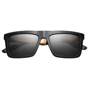 IVI VISION Sepulveda Sunglasses in Polished Black & Copper with Grey Lens