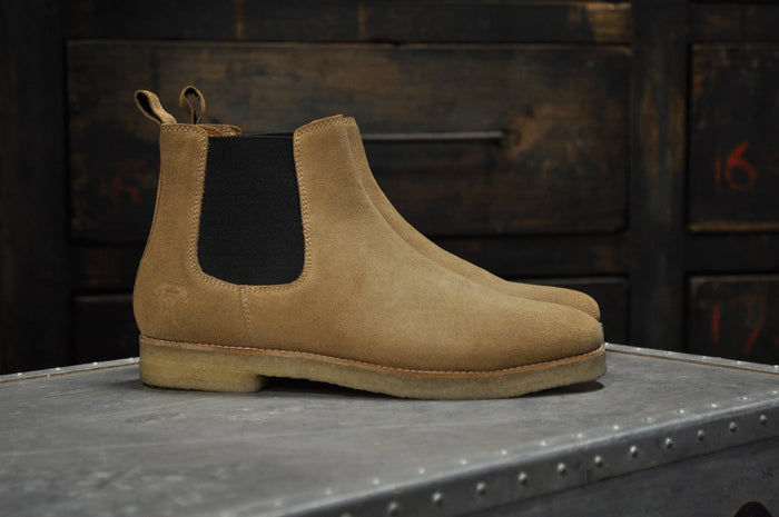 HOUND & HAMMER The Maddox 2 Boot in Tan Suede