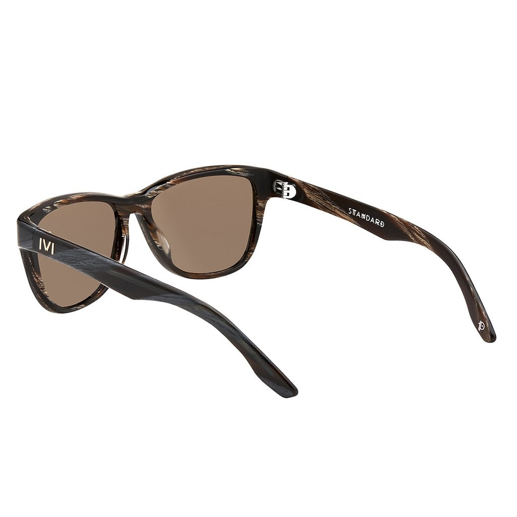 IVI VISION The Standard Sunglasses in Polished Double Horn / Bronze