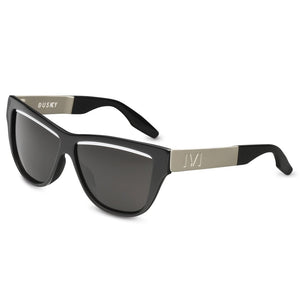 IVI VISION Dusky in Polished Black with Brushed Aluminum / Grey Lens
