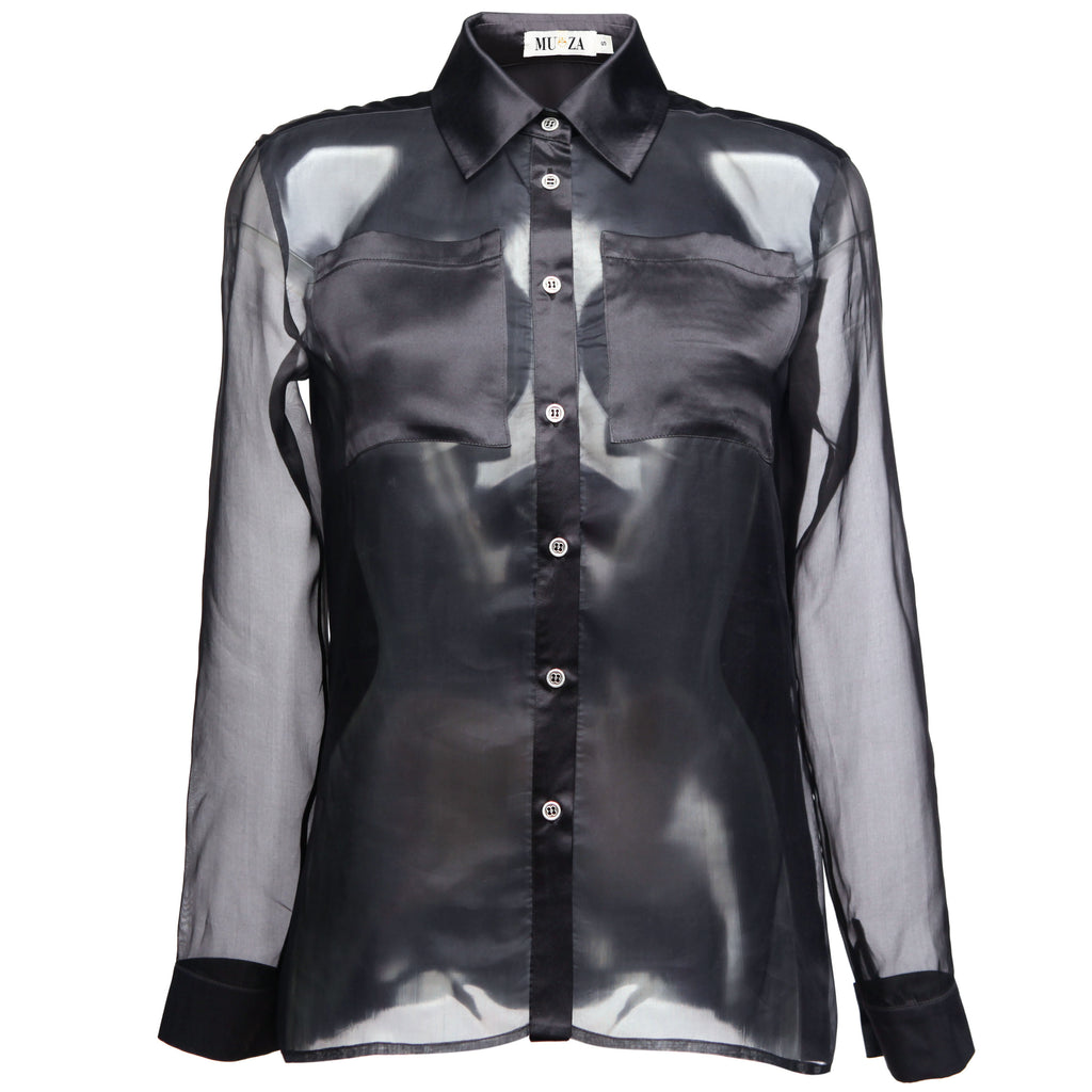 MUZA Silk Organza Long Sleeved Shirt