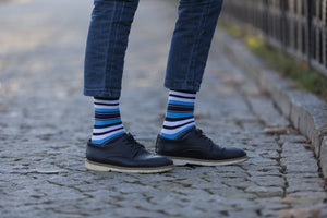 SOCKS N SOCKS Men's 5-Pair Striped Socks