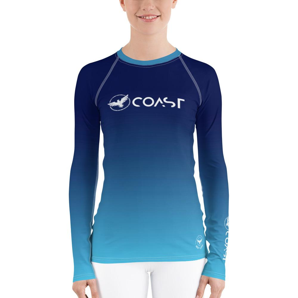 FYC Women's Ocean Fade Sleeve Performance Rash Guard UPF 40+