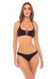 LYBETHRAS Waverly Bikini Bottoms In Black