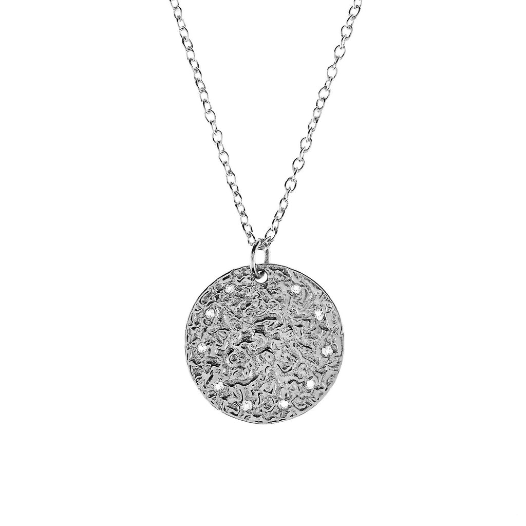 LATELITA LONDON Full Moon Necklace in White Topaz