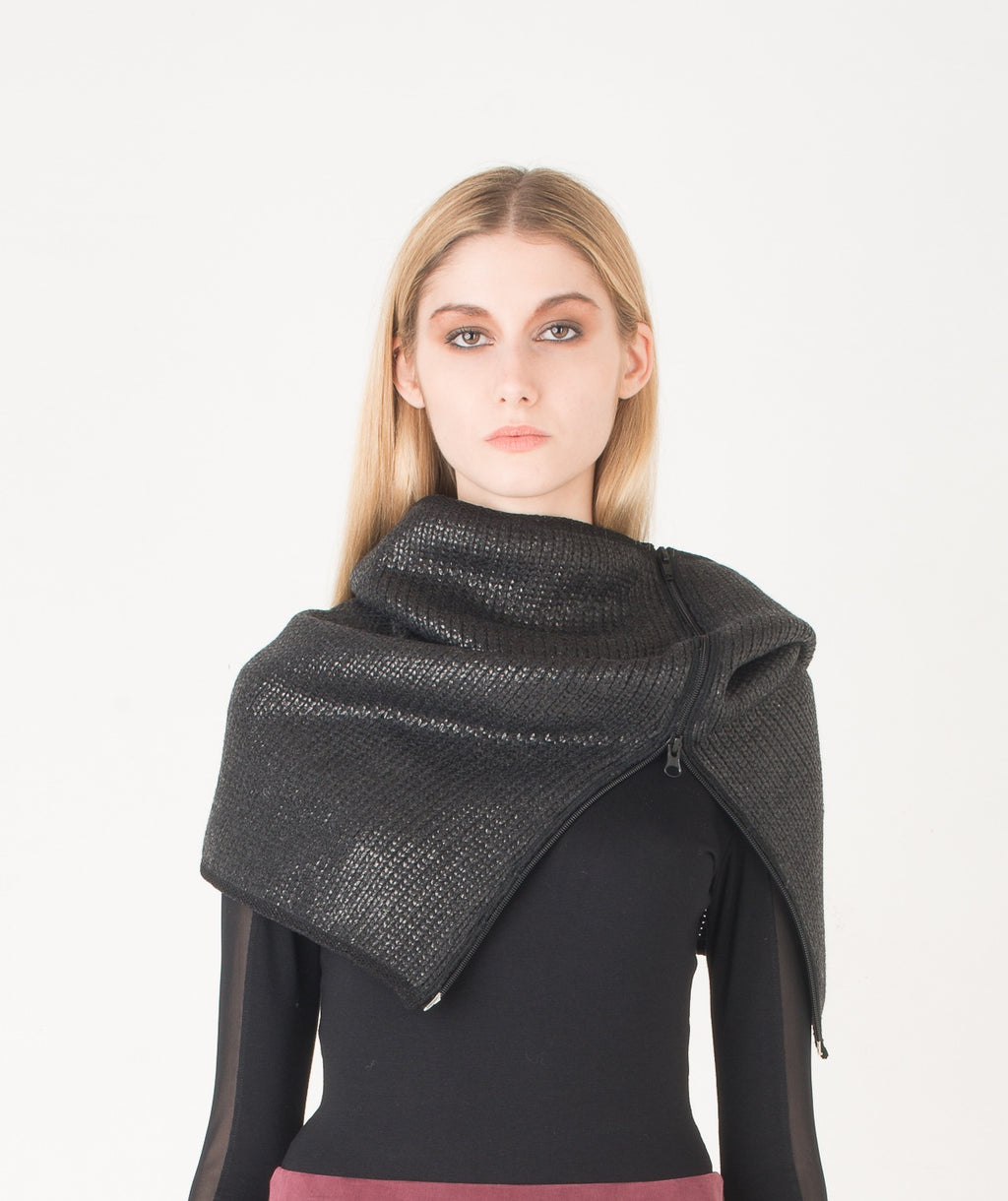 EON PARIS Coated Wool Snood
