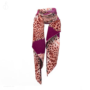 PHILIPP SIDLER Printed Scarf in Leopard Appeal