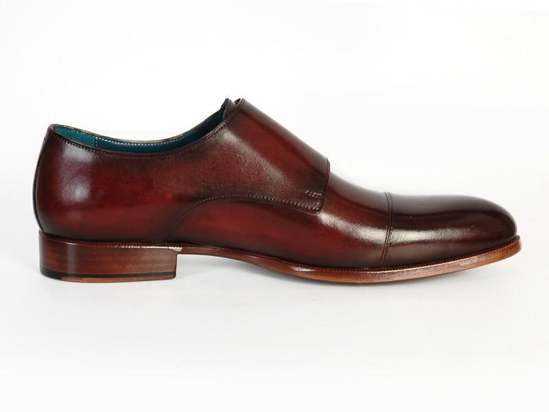 PAUL PARKMAN Cap-Toe Double Monkstraps in Dark Brown