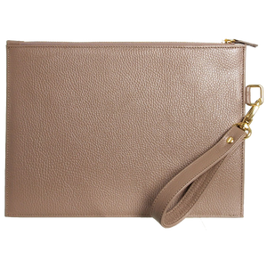 72 SMALLDIVE Document Folio in Taupe Leather