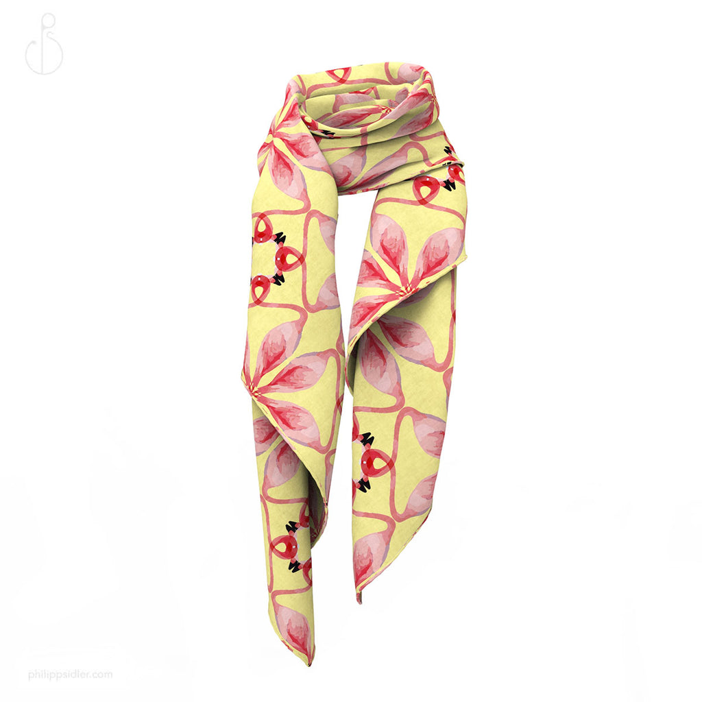 PHILIPP SIDLER Scarf in Flamin Flamingos