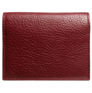 72 SMALLDIVE Grained Calf Leather Card Wallet in Rosewood