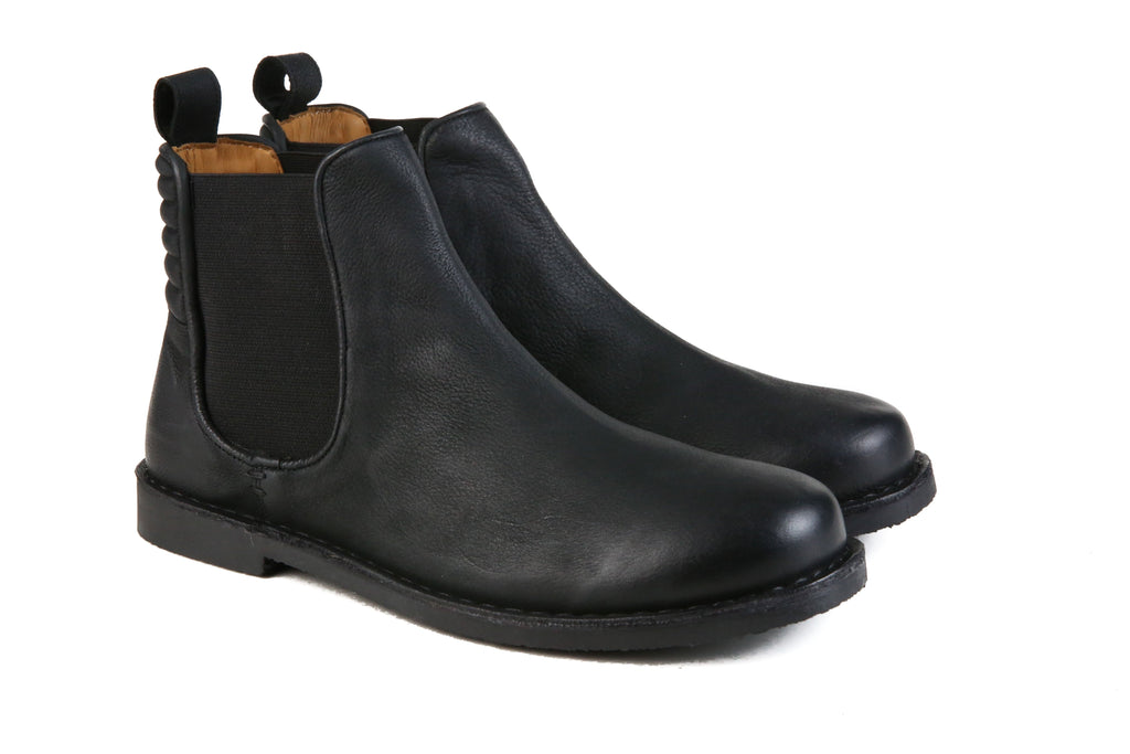 HOUND & HAMMER The Gamble Boot in Black Leather