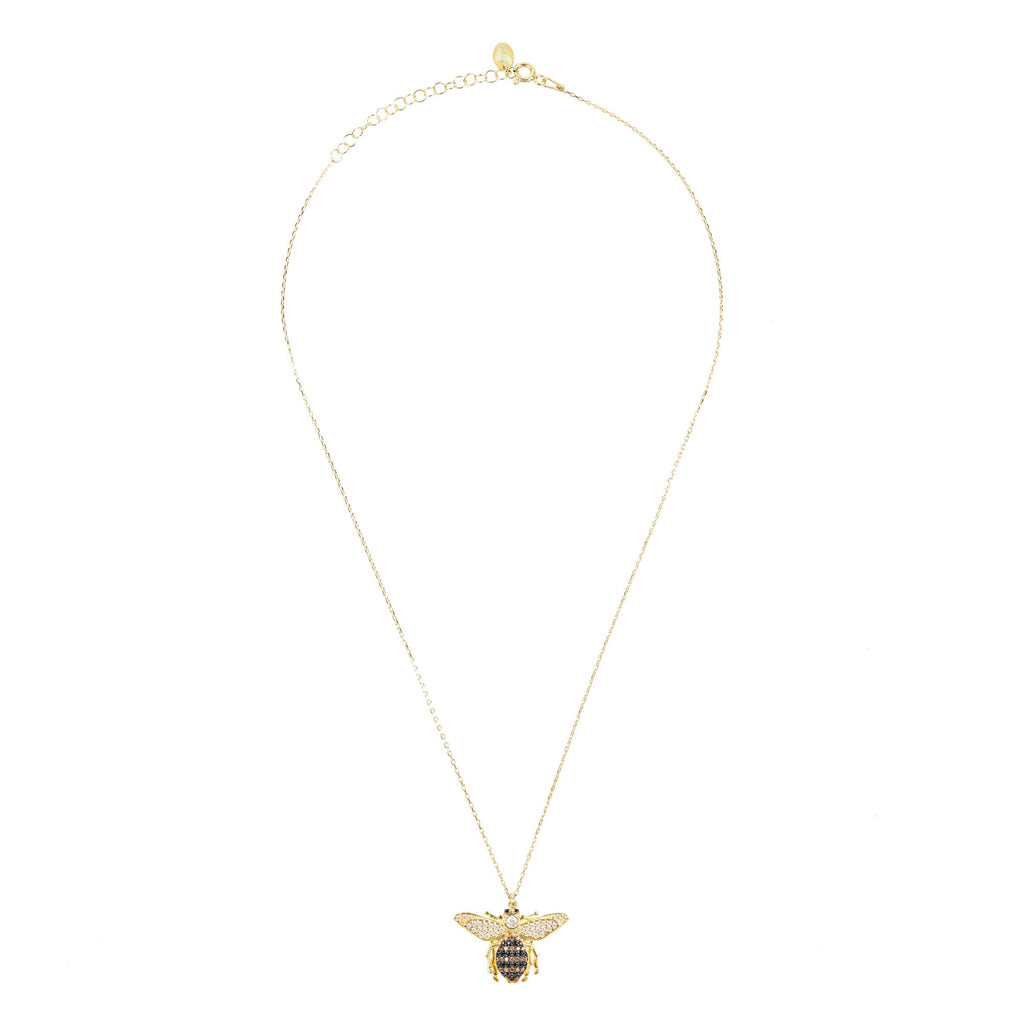 LATELITA LONDON Honey Bee Pendant Necklace Gold