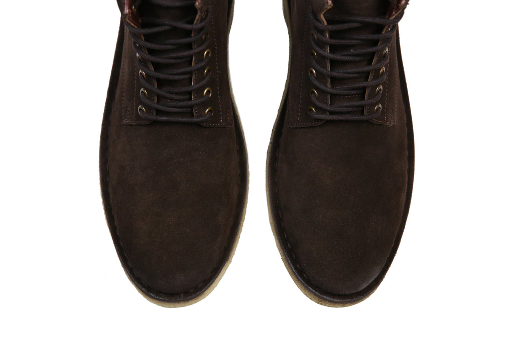 HOUND & HAMMER The Hunter Boot in Chocolate Suede