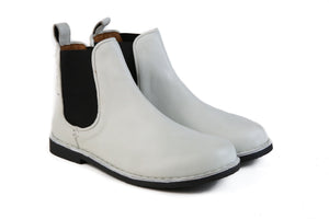 HOUND & HAMMER The Gamble Boot in White Leather