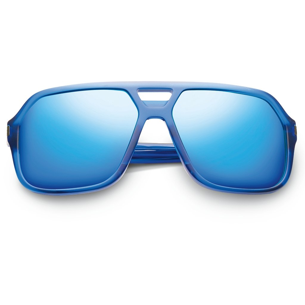 IVI VISION Hunter in Matte Midway Blue with Antique Brass / Pacific Blue Flash Lens
