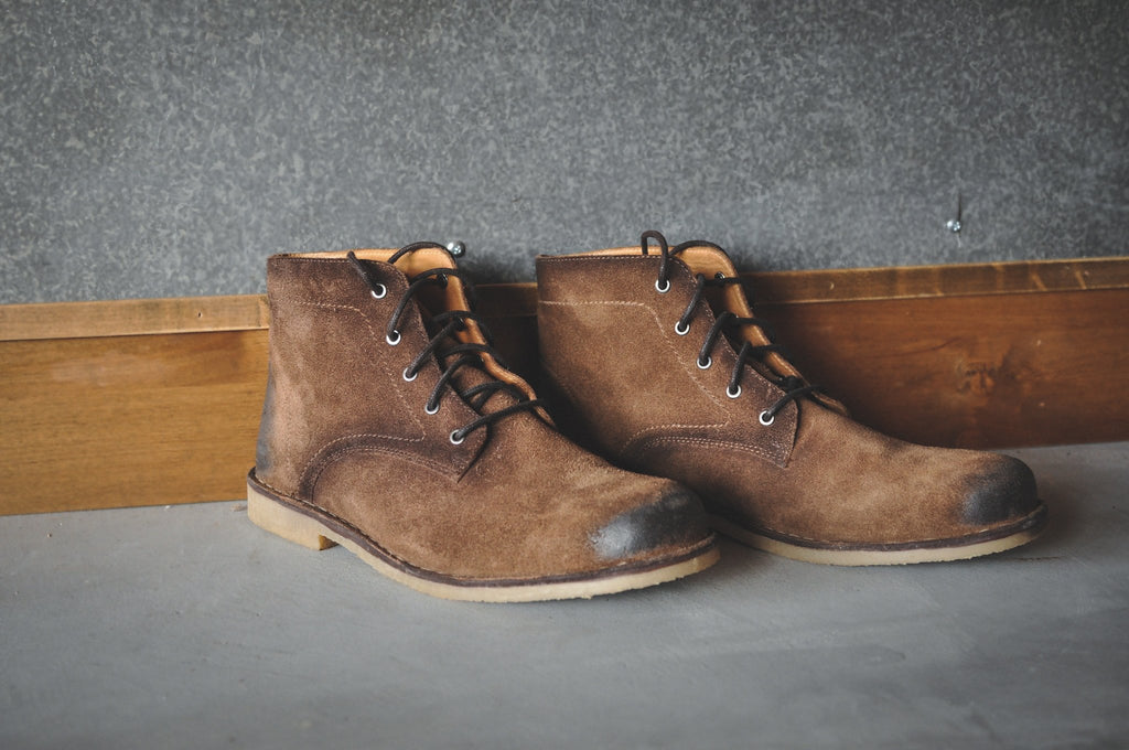 HOUND & HAMMER The Grover in Burnished Tobacco Suede