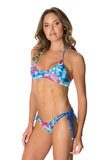 LYBERTHAS Mica Bikini Bottom in Moonrise Palm