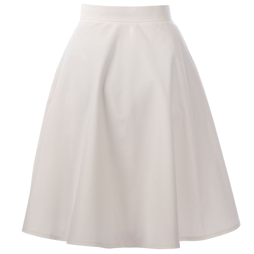 MUZA Leia White A-line Cotton Skirt