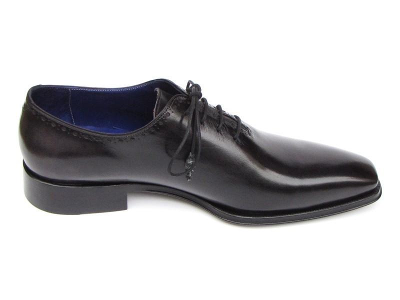 PAUL PARKMAN Plain Toe Oxford Shoes in Black