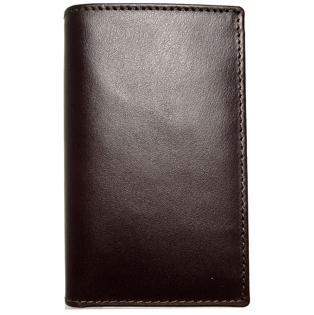72 SMALLDIVE Buffed Leather Mini Bill Fold in Brown