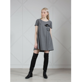 MUZA Wool Asymmetric Mini Dress
