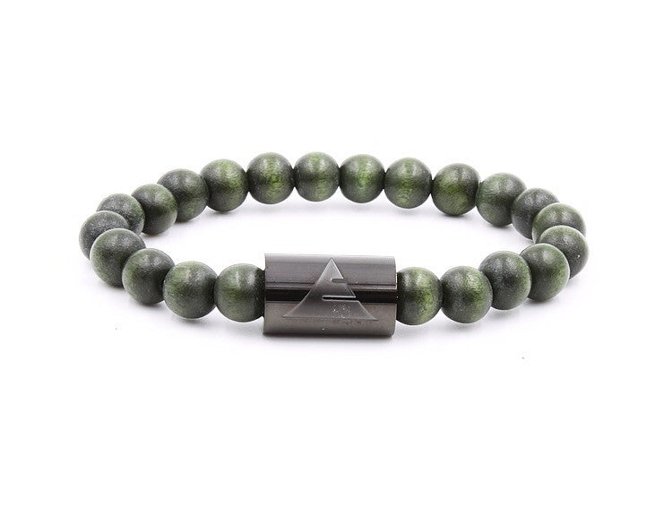 EVERWOOD Solid Men's Bracelet in Forest Green Wood