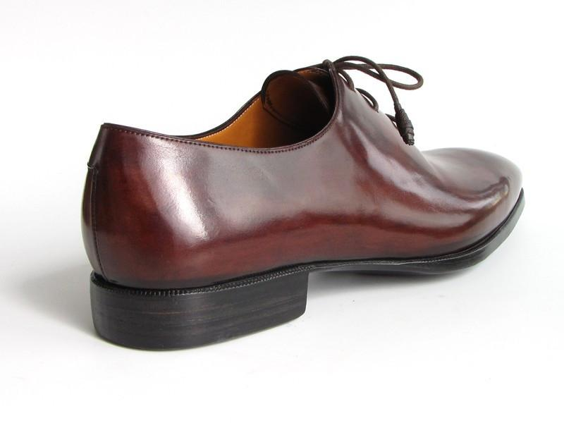 PAUL PARKMAN Oxford Dress Shoes in Brown/Bordeaux