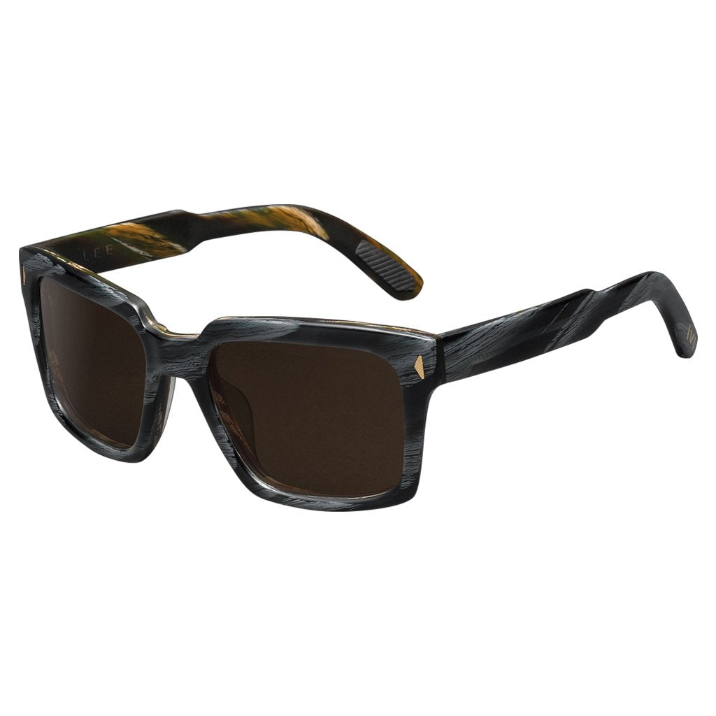 IVI VISION Lee Sunglasses in Polished Double Horn/Bronze Polarized Lens