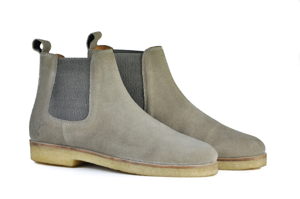 HOUND & HAMMER The Maddox 2 Boot in Khaki Brown Suede