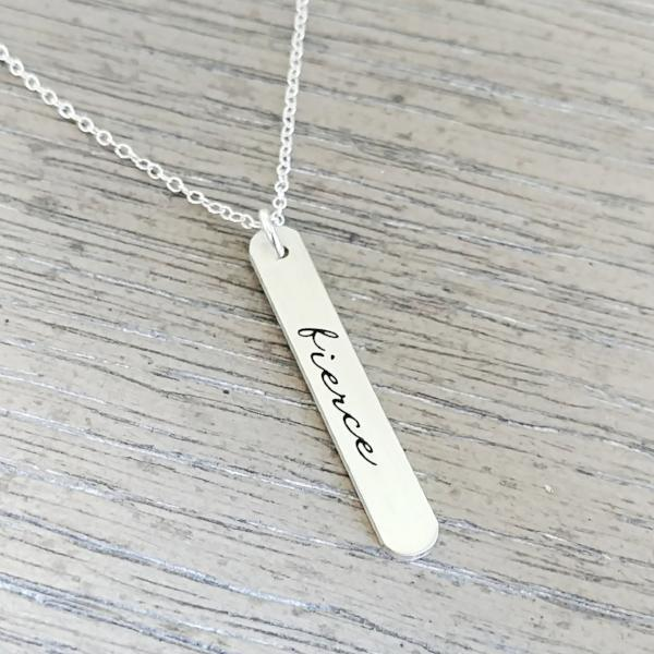 GRACEFULLY MADE Fierce Vertical Bar Necklace