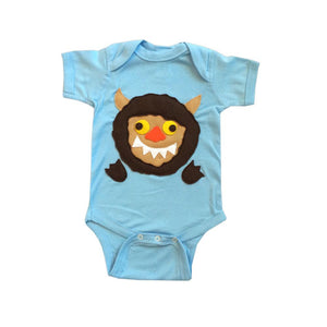 MI CIELO A Wild Boy & A Wild Monster Infant Bodysuit Combo