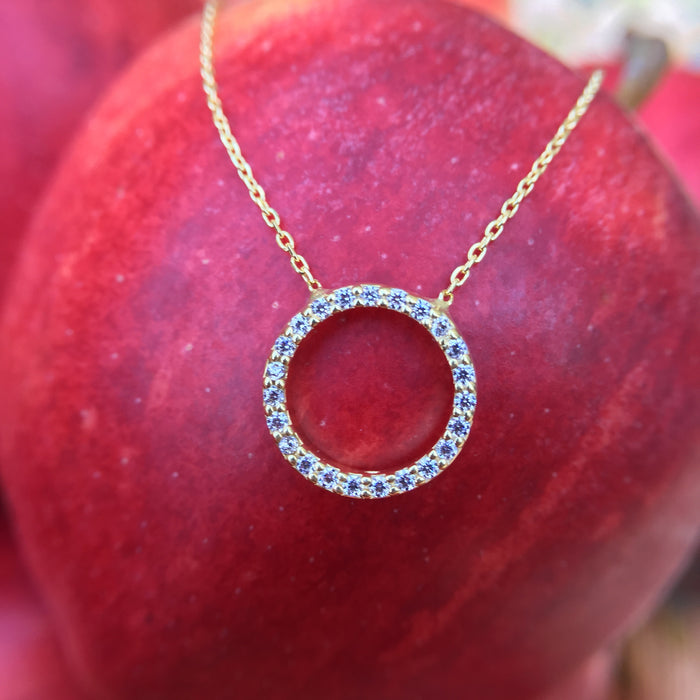 LATELITA LONDON Sparkling Halo Circle Necklace