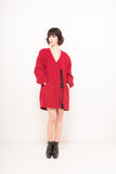 EON PARIS Oversized Coat in Red