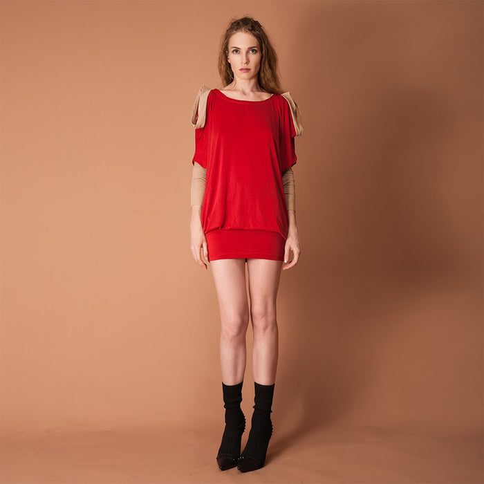 GUZUNDSTRAUS Quasi Dress Scarlet: Reversible