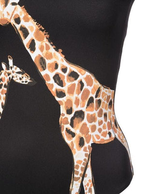 ONIA Kelly Swimsuit in Giraffe Black