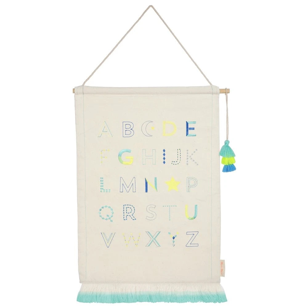 MERI MERI Alphabet Wall Hanging in Blue