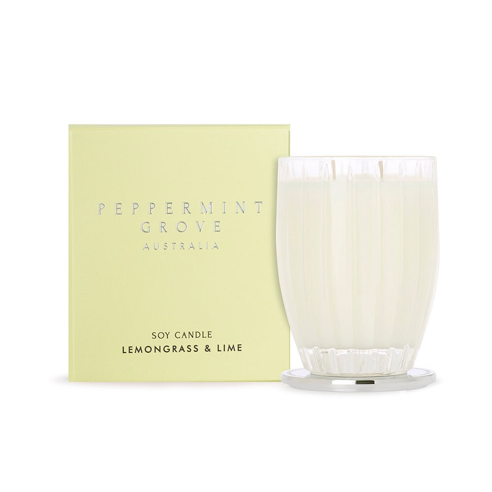 PEPPERMINT GROVE Large Candle in Lemongrass & Lime