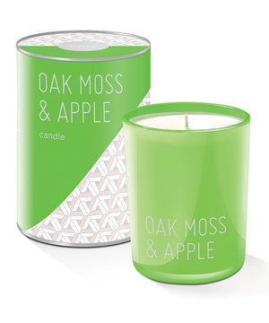 FRINGE STUDIO Pastel Candle in Oak Moss & Apple