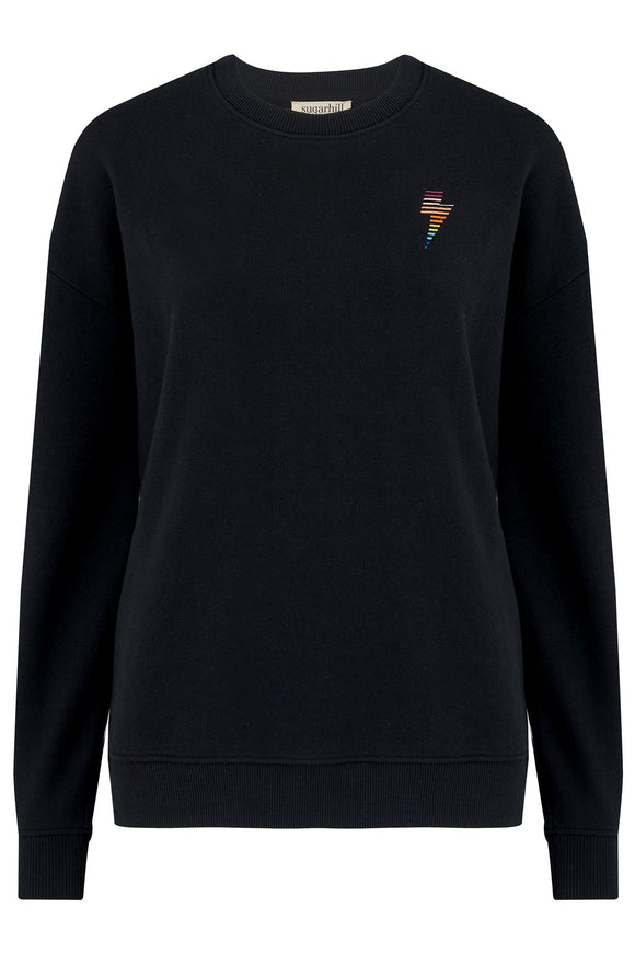 Noah Sweatshirt - Black, Rainbow Lightning